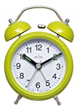 Acctim 14615 Evie Chartreuse Double Bell Alarm Clock, Green