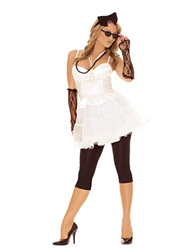 Sexy Women's 80's Rock Star Adult Roleplay Costume Set,