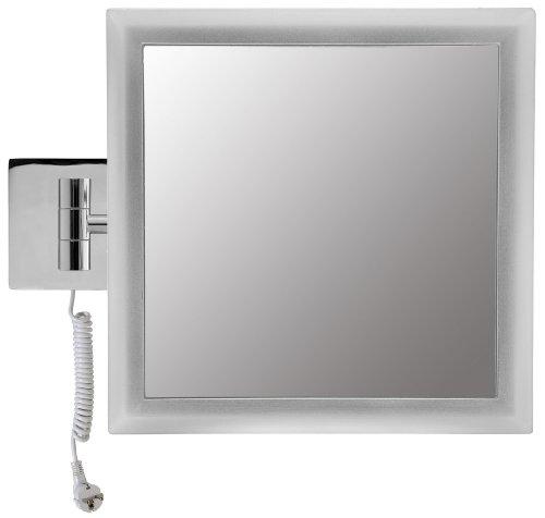 Velma satin square led2208 5x elegante specchio cosmetico specchio ingranditore - Specchio trucco illuminato ...