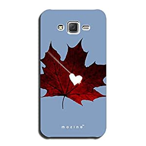 Mozine Maple Leaf printed mobile back cover for Samsung galaxy on5
