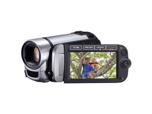 Canon LEGRIA FS406 Camcorder - Silver (37x Optical Zoom, 2.7 inch Widescreen LCD)