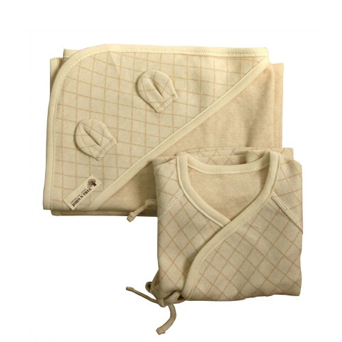 100% Organic Cotton Newborn Long Sleeve Side Snap Shirt, Swaddle Blanket