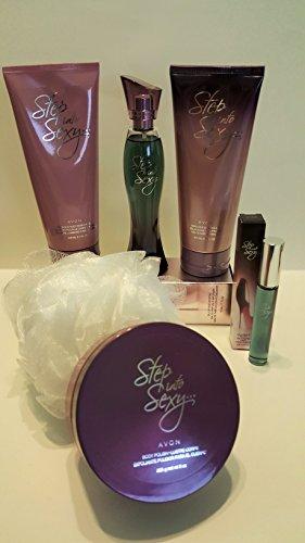 Avon Step Into Sexy 6pc Set : Perfume + Body Moisturizer + Shower Gel + Body polish + Perfume Rollette + Bath Shower Scrub (Avon Bath Paint compare prices)