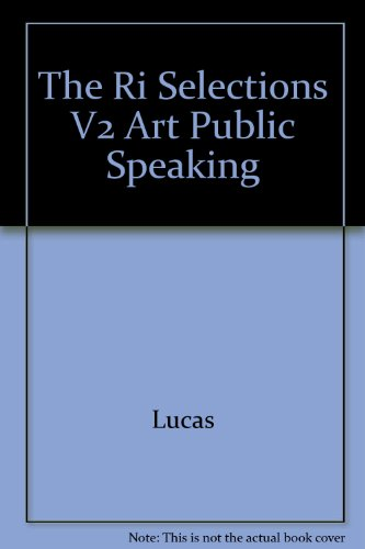 The Ri Selections V2 Art Public Speaking