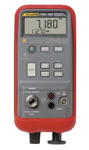 Fluke 718Ex 100 Intrinsically Safe Pressure Calibrator, 100 Psig