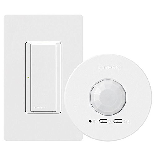 Wireless RF Switch & Ceiling Sensor - Energi TriPak Kit- Clear Connect RF Technology - White - 120/277V Lutron Maestro MRF2-1S8A-1OC (Amp With Wi compare prices)