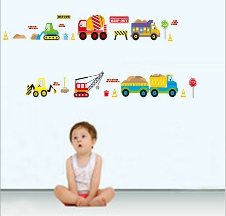 Cartoon Car Living Room Bedroom Wall Stickers front-543041