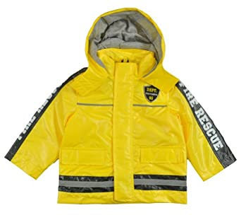 Osh Kosh B'gosh Boys Yellow Fire Rescue Rain Slicker Jacket (4)
