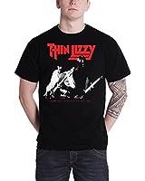 Thin Lizzy Drink Will Flow offizielles Herren Neues schwarz T Shirt