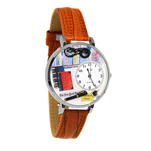 Book Lover Tan Leather Watch