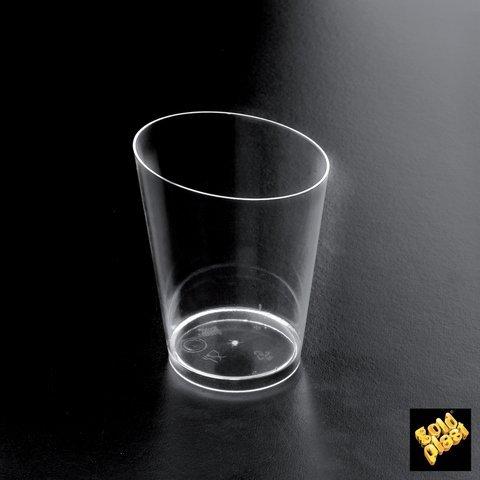 Gold Plast - Bicchierino Conico Maxi, colore trasparente - 10 pz per confezione, Capienza 100 cc