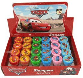 Disney Pixar Movie CARS Stampers Box: Stamp Art Set (24 pcs)