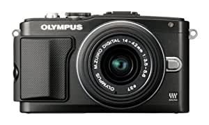 Olympus Pen E-PL5 Compact System Camera - Black (16.1 MP, M.ZUIKO Digital 14 -42mm II R Lens Kit) 3 inch LCD