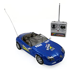 Super R/C Sports Car Radio Control Race Car 1:18 Mode (Colors Vary)