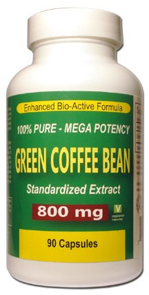 Green Coffee Bean Extract Mega Potency 800 mg 90 Vegetarian Capsules 100 Pure All Natural Formula No Additives or Fillers