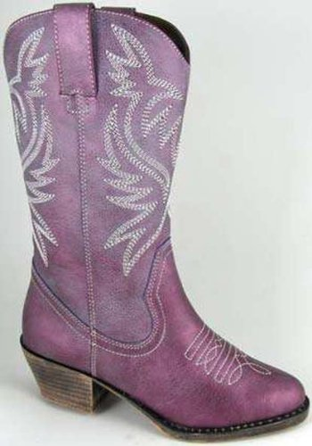 Smoky Mountain 1306 Kid'S Savannah Boot Purple Luster Child'S 10 M