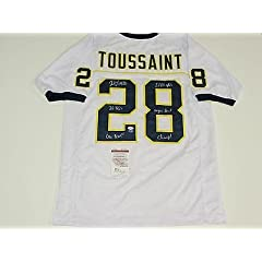 Fitzgerald Toussaint Signed University Of Michigan Throwback Jersey Auth Coa - JSA...