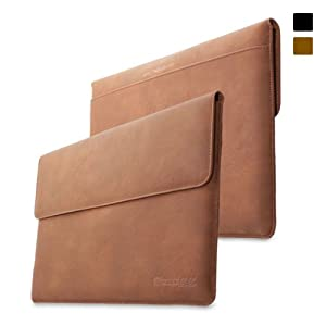 Snugg Surface Pro 1 & 2 Case - Leather Sleeve with Lifetime Guarantee (Brown) for Microsoft Surface 1 & 2, RT & Pro