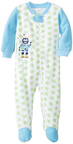 Absorba Baby-Boys Infant Robot Sleeper, Green Star, 24 Months front-956553