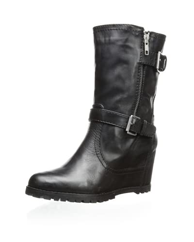 Kelsi Dagger Shoes Vanna Double Buckle Wedge Boot