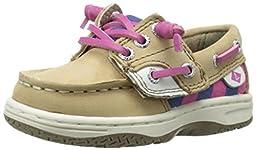 Sperry Top-Sider Ivyfish JR Boat Shoe (Toddler/Little Kid/Big Kid), Linen/Stripe, 6.5 M US Toddler