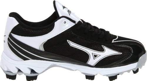 thumbnails of Mizuno Men's 9-Spike Lite Blaze Elite 3 Baseball Cleat,Black/White,12 M US