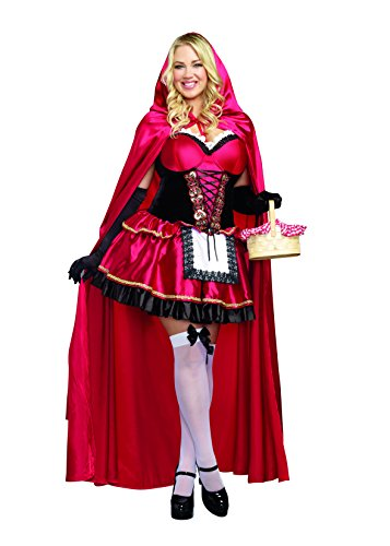 Dreamgirl Women's Plus-Size Little Red Riding Hood Costume, 1X/2X,