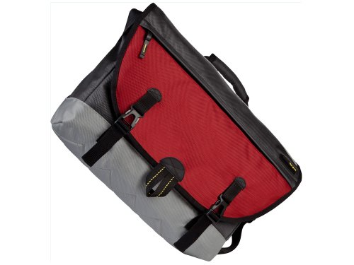 Targus TSM157CA Brick Messenger Bag for upto 16-Inch Laptop (Red)