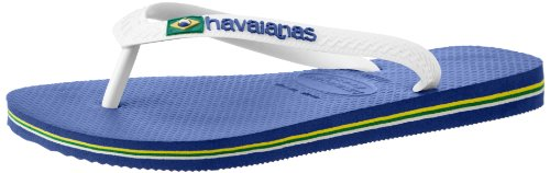 Havaianas Men'S Brasil Logo Flip Flop,Marine Blue,41 Br/9 M Us