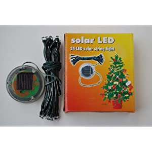 Click to buy Outdoor Christmas Lights: Solar Powered Christmas Lights String Light 24 LED Blue from Amazon!