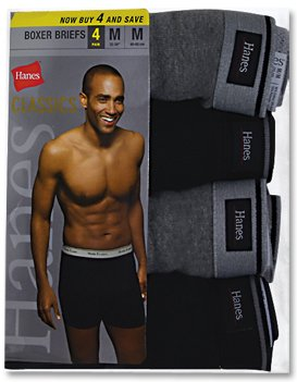 Hanes Classics Men's 4-Pack Multi-Color Boxer Brief, Assorted Grey/Black, Medium