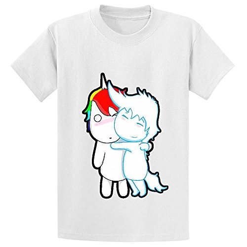 Chas Unicorn And Pegasus Girls Crew Neck Graphic T Shirts White (Pandora Charms Beer Mug compare prices)