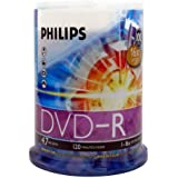 DVD-R 4.7GB DATA 120MIN VID 16X 100-Spindle