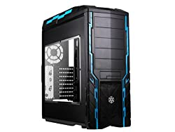 Silverstone Tek ATX CEB Mid Tower Case with Window Side Panel and Hot-swappable HDD Bay PS06B-W - Black