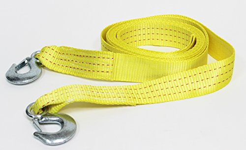 "Great Deal! Tanaka Heavy Duty Tow Strap with Hooks, 10,000 Lb Capacity. Length (2"" X 20')"