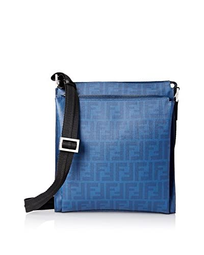 Fendi Men's Logo Cross-Body, Cobalt Black