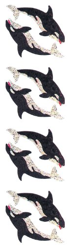 Jillson Roberts Prismatic Stickers, Mini Killer Whales, 12-Sheet Count (S7177)