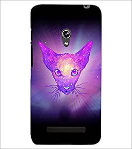 PrintDhaba Cat D-3461 Back Case Cover for ASUS ZENFONE 5 A501CG (Multi-Coloured)