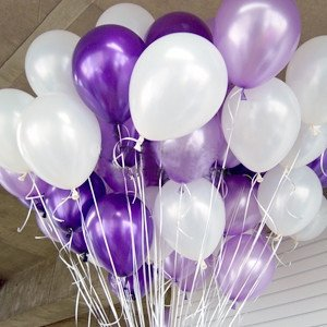 Amazon.com: NEO 10 Inch White & Purple Party Balloons for
