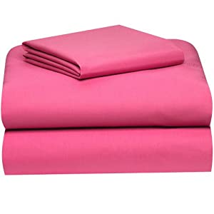 deep pink college classic extra long 3 piece sheet set pillowcase and sheet sets. Black Bedroom Furniture Sets. Home Design Ideas