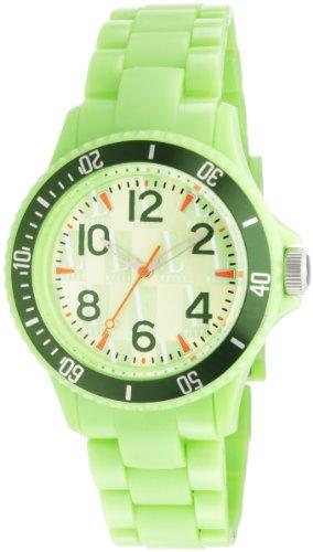 L by ELLE Women's LE50007P05 Green Plastic Green Color Bezel Watch