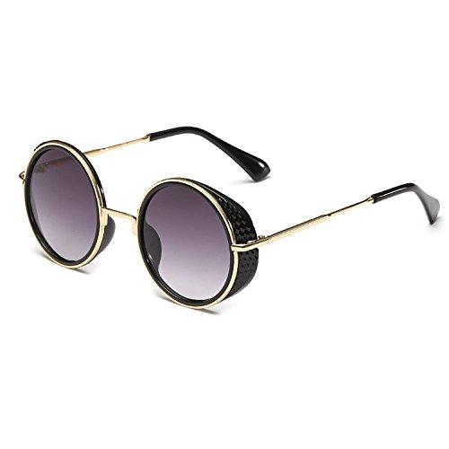 Xinmingyue 1034 Cyber Goggles Steampunk Sunglasses Vintage Retro Mirror lens Round Glasses