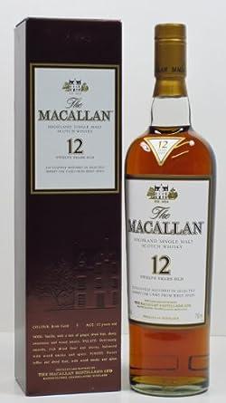 Macallan Sherry Oak 12 Jahre Whisky 40%vol. 0,7l Flasche