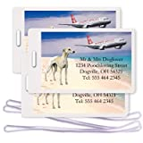 Whippet Set Of 3 Personalized Luggage Tags