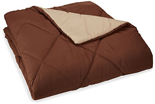 Purchase AmazonBasics Reversible Microfiber Comforter - Full/Queen, Chocolate