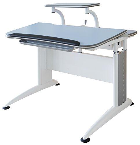 """Reo-Smart """"Elite Alexis""""Ergonomic Adjustable Desk & Bookshelf Set for Children-Blue"""