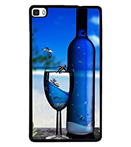 PRINTSWAG BOTTLE AND GLASS Designer Back Cover Case for HUAWEI P8
