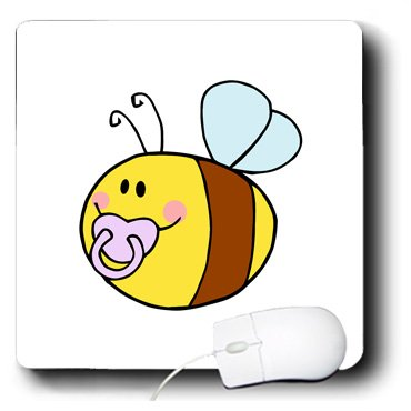 Mp_175736_1 Susans Zoo Crew Baby Kid Designs - Cute Bee With Pacifier In Mouth - Mouse Pads front-65285