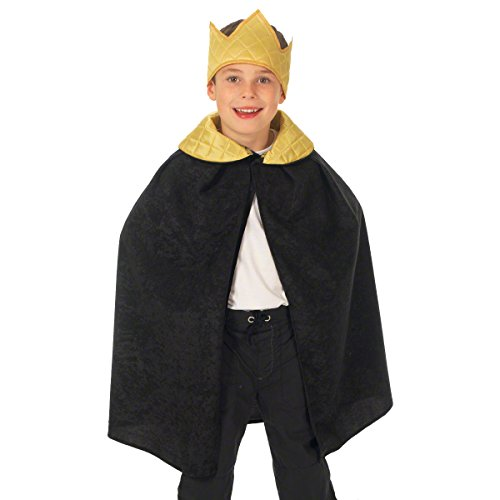 Black King / Queen Cloak Costume for kids 3-9 Years