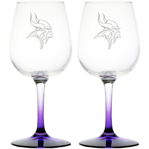 Nfl Minnesota Vikings 12.75-Ounce Wine Glass Set